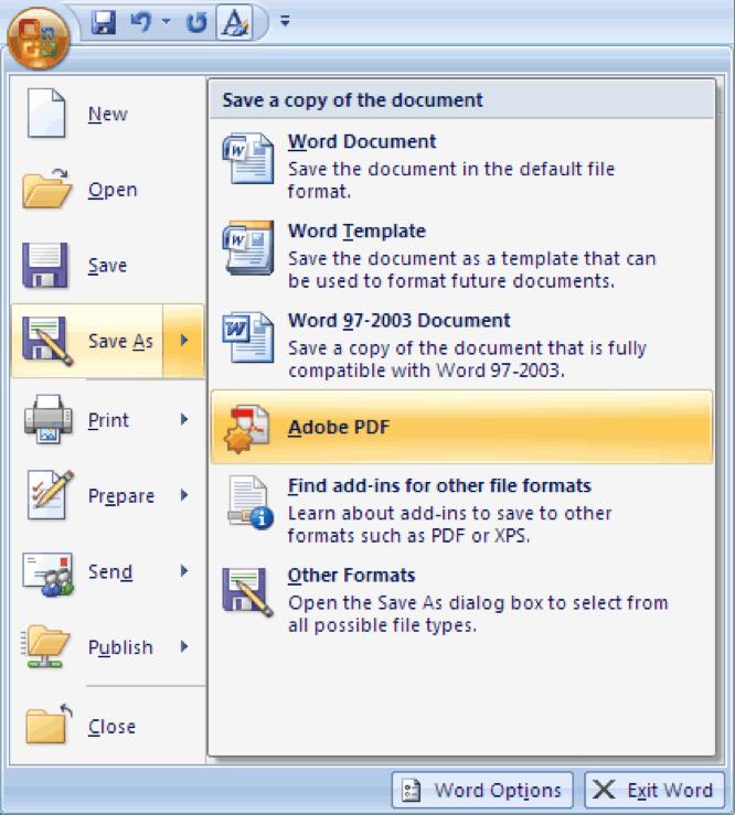 MICROSOFT OFFICE PDF PLUGIN 2007 EBOOK